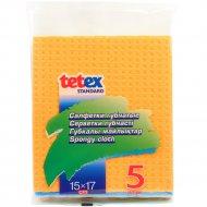 Салфетки губчатые «Tetex» 5 шт, 15х17 см