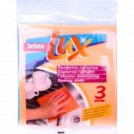 Салфетки губчатые «Tetex Lux» 18х20 см, 3 шт.