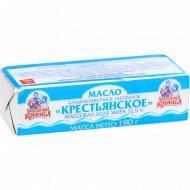 Масло сливочное «Бабушкина крынка» Крестьянское, несоленое, 72.5%, 180 г