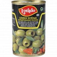 Оливки зеленые «Lorado» фаршированные лососем, 300 г.