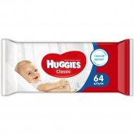 Влажные салфетки детские «Huggies Classic» многослойные, 64 шт.