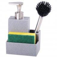 Дозатор для мыла с губкой и щеткой «Home&You» 24757-SZA-DOZ