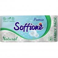 Бумага туалетная «Soffione Natural» из целлюлозы, 3 слоя, 16 рулонов