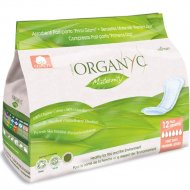 Прокладки «Organyc» для рожениц, для первых дней, 12 шт