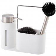 Дозатор для мыла с губкой и щеткой «Home&You» 42672-BIA-DOZ