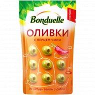 Оливки «Bonduelle» с перцем чили, 70 г.