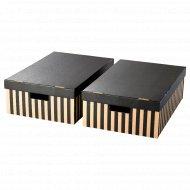 Коробка с крышкой «Пингла» 56x37x18 см, 2 шт.