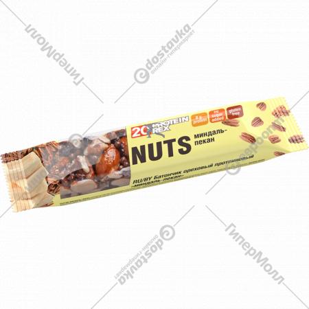 Батончик ореховый протеиновый «Миндаль-пекан» 40 г.