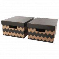 Коробка с крышкой «Пингла» 28x37x18 см, черная.