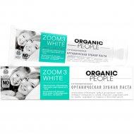 Паста зубная «Organic People» zoom 3 white, без отбеливания, 100 г.