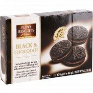 Печенье «Вlack & Сhocolate» с какао и кремовой начинкой, 176 г.