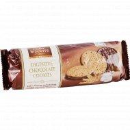 Песочное печенье с молочным шоколадом, 300 г.