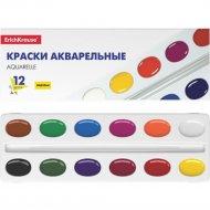 Краски «ErichKrause» акварельные, 12 цветов