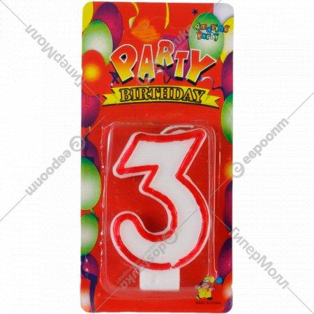 Свеча-цифра «3» 1 шт.