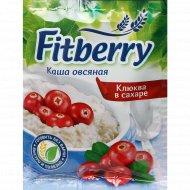 Каша овсяная «Fitberry» клюква в сахаре, 35 г.