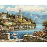 Картина по номерам «Azart» Город в горах, 30х40 см