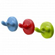 Стенные крюки «Крокиг» разноцветные, 3 шт.