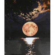 Живопись по номерам «Луна над озером» 30 х 40 см.