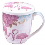 Кружка с фильтром и крышкой «Olaff» Фламинго, 360 мл