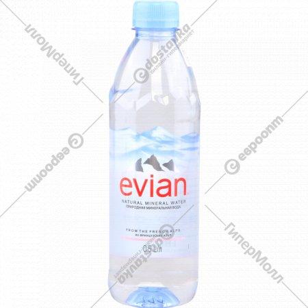 Вода минеральная «Evian» негазированная 0.5 л.