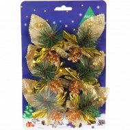 Новогоднее украшение «Рождественский букет» 6x8 см, 6 шт.
