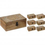 Шкатулка деревянная, 10х15х6.8 см.