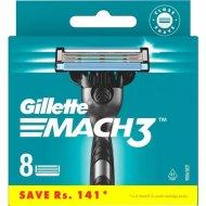 Сменные кассеты для мужской бритвы «Gillette» Mach3, 8 шт.