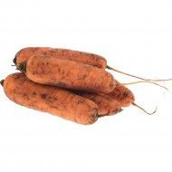 Морковь столовая свежая фасованная, 1 кг., фасовка 1.2-1.35 кг