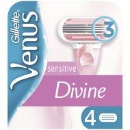 Сменные кассеты для бритвы «Gillette Venus» Divine, 4 шт.