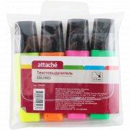 Текстовыделитель «Attache» 4 цвета.