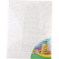 Холст для рисования «Пизанская башня» 30х40 cм с красками.