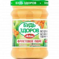 Пюре фруктовое «Будь здоров» яблоко-облепиха, 240 г.