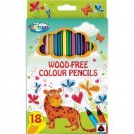 Карандаши цветные «Giraffe» 18 цветов