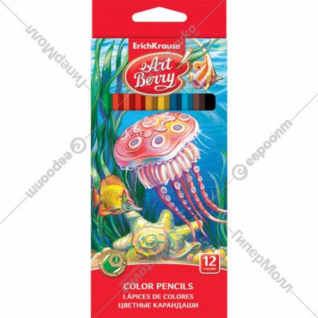 Набор цветных карандашей 12 цветов