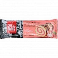 Рулет бисквитный «Cafe de Paris» вкус клубники со сливками, 145 г.