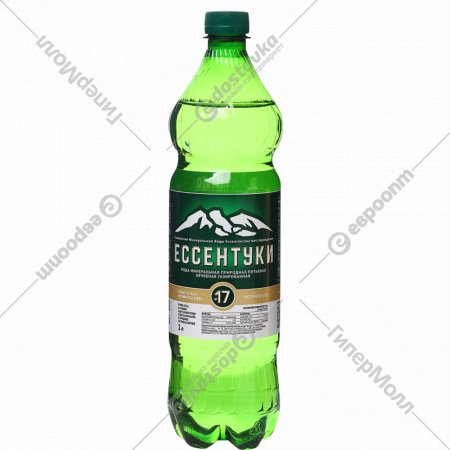 Вода минеральная «Ессентуки № 17» газированная, 1 л.