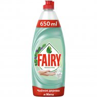 Средство для мытья посуды «Fairy» чайное дерево и мята, 650 мл.