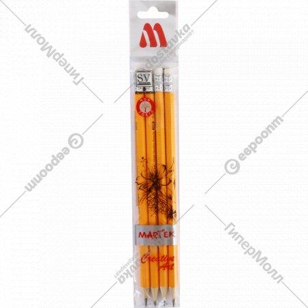 Набор карандашей «Martek» HB, 4 шт.