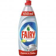 Средство для мытья посуды «Fairy» Platinum лимон и лайм. 650 мл.