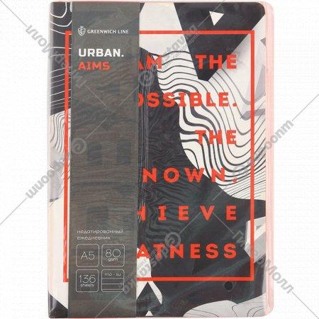 Ежедневник «Urban. Aims» недатированный, A5, 136 листов.