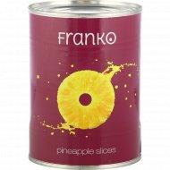 Ананасы «Franko» кольца в сиропе, 580 мл.