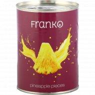 Ананасы «Franko» кусочки, 565 г.