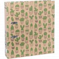 Папка-регистратор «Cactus» с рисунком.