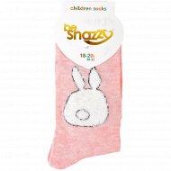 Носки детские с узором, размер 18-20.