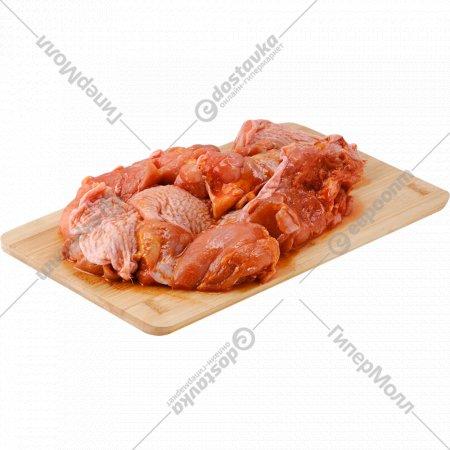 Шашлык из бедра цыплят-бройлеров, замороженный, 0.9 кг.