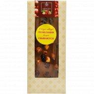 Шоколад молочный «Hand-Made» 35%, с фундуком и клюквой, 100 г.
