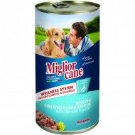 Консервы «Miglior» для собак, с рыбой и птицей, 1.25 кг.