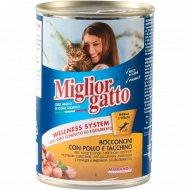Корм для кошек «Migliorgatto» курица с индейкой, 405 г.
