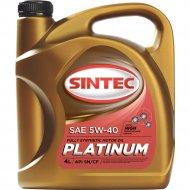 Масло моторное «Sintec» Platinum, 5W-40, SN/CF, 801941, 4 л