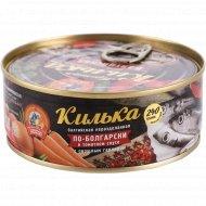 Килька балтийская «По-болгарски» в томатном соусе, с гарниром, 240 г